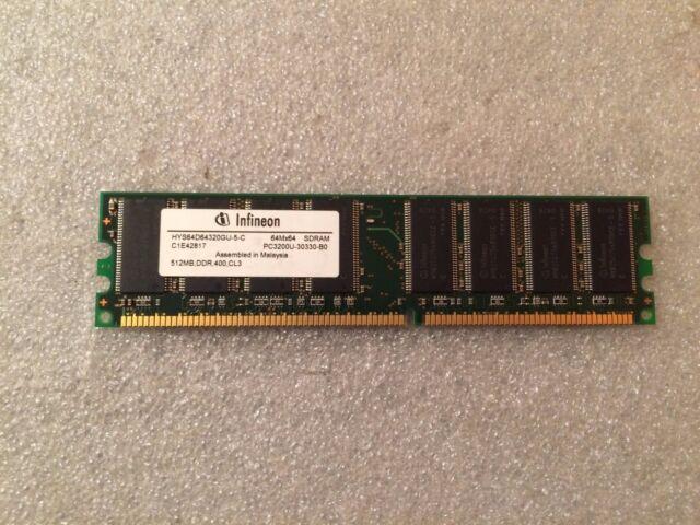 Memoria DDR Infineon HYS64D64320GU-5-C 512MB PC3200 DDR-400MHz CL3 184 Pin