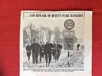 m2M ephemera 1966 football picture queen's park rangers stuart leary lazarus