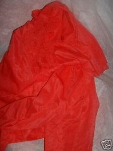 Vintage Red Pajama Set  w Lace Nancy King Lingere