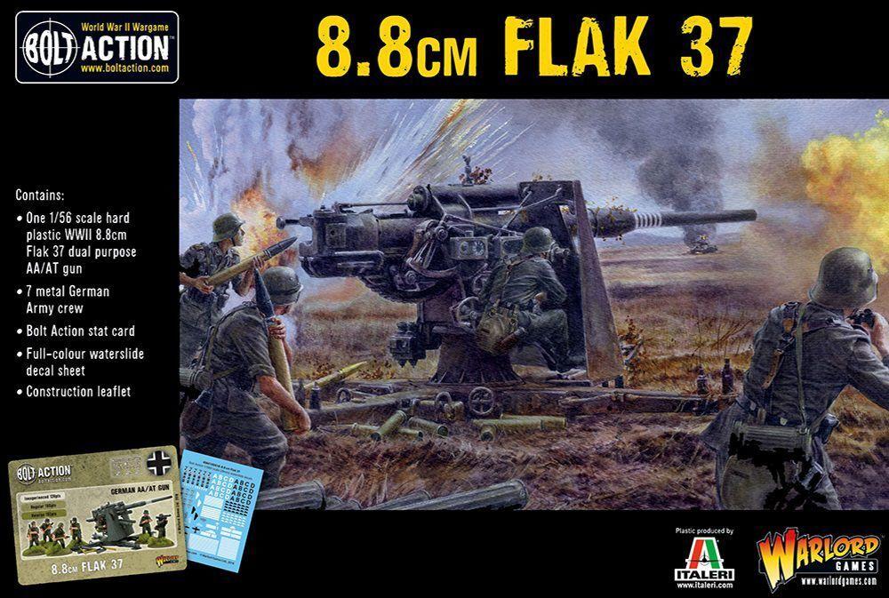 Warlord Games German Flak 37 8.8cm 28mm Germany Bolt Action WW2 German