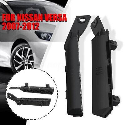 2Pcs Front Left and Right Side Bumper Bracket Black For 2007-2012 Nissan versa