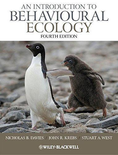 An Introduction To Comportamiento Ecology 4th Edición por West,Stuart a Krebs