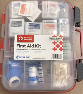 358 PIECES, American Red Cross Clear Front First Aid Kit NEW Unopened