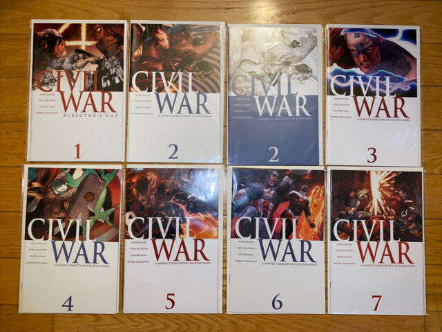 Marvel Civil War #1-7 Complete + Tie-Ins 1st Prints Captain America Iron Man NM
