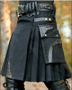 Utility kilt for men and women, unisex kilt, adult utility kilt, kilt for men, black stylish kilt, sales kilt for men
