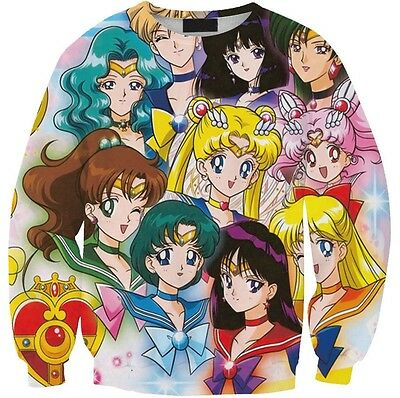 3D Creative New Sweatshirt Sailor Moon Sweater Free Shipping