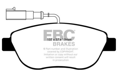 595 EBC Blackstuff Bremsbeläge Vorderachse DP1383//2 für Abarth 500