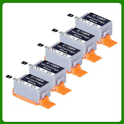 5 X BCI-15 Black Ink Cartridge for Canon i70 i80 IP90