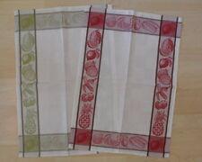 2er Set Geschirrtuch HALBLEINEN Küchentuch Handtuch Küchenhandtuch OBST Küche