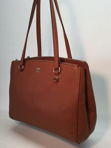 52218a1e16 Image is loading COACH-STANTON-CARRYALL-IN-CROSSGRAIN-LEATHER-BAG-HANDBAG