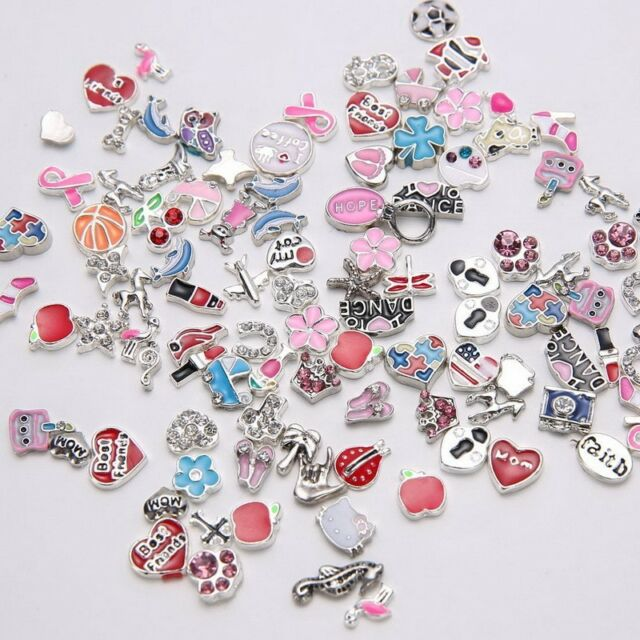 5pcs Floating Locket Charms for Making Necklace/Bracelet Jewelry Finding NICE