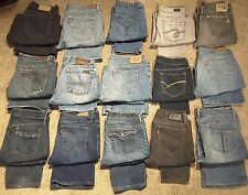 Women's WHOLESALE RESALE LOT 15 Pairs High Quality Brand Name Jeans