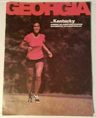 GEORGIA VS KENTUCKY - FOOTBALL PROGRAM - OCT. 25, 1975   eBay