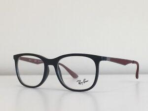 bdac06b3e5a2c 84 Ray Ban RB 7078 5598 Round Gray Burgundy Eyeglasses Optical Frame ...