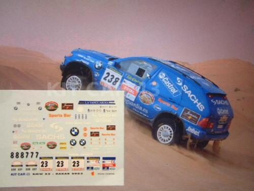 ARCARONS RALLY DAKAR 2003 DECAL CALCA 1//43 BMW X5 J