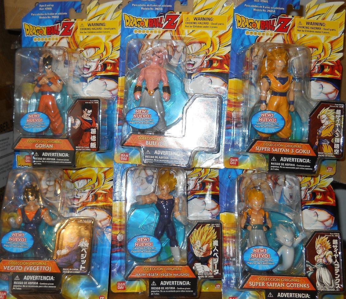 Ban Dai-Dragonball Z Dragon Ball Z-Figuras de animé conjunto de 6 4.5  menta en tarjeta