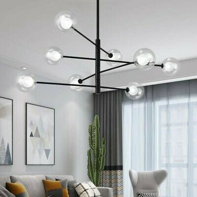 Office Bubble Glass Ceiling Lamp Led Chandelier Modern Pendent Light Fixtures Ebay