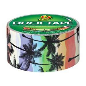 - New- Printed Duck Tape Brand Duct Tape - Sunset Strip 1.88 In X 10 Yd