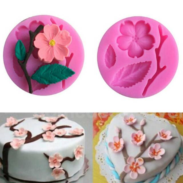 3D Food-grade Silicone Mold Peach Blossom Cake Chocolate Molds Decorating Tool