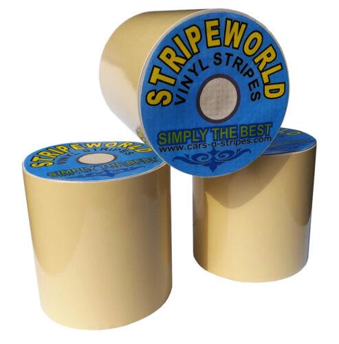 75mm Self Adhesive Gloss Beige Vinyl Stripe for car caravan horsebox boat