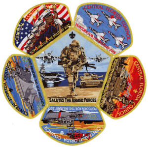2015-Central-Florida-Council-Boy-Scout-Military-Armed-Forces-CSP-Patch-Set-Lot