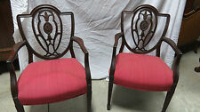 Pair Shield Captains Dining Room Chairs Mahogany