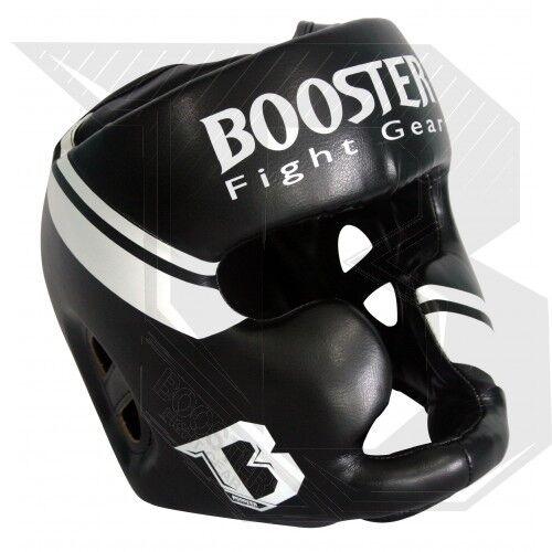 BOOSTER Testa Prossoezione HEADGUARD bhg1. BIANCO o NERO. muay thai, kick scatola, MMA