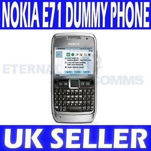 NEW-NOKIA-E71-SILVER-DUMMY-DISPLAY-PHONE-UK-SELLER