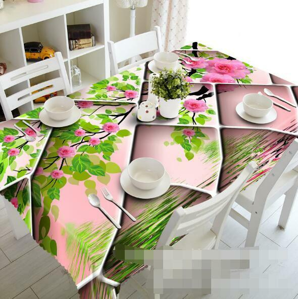 3D Flowers 736 Tablecloth Table Cover Cloth Birthday Party Event AJ WALLPAPER AU
