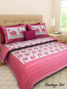 Beau Image Is Loading Handmade Rajasthani Latest Design Pure Cotton Bed Sheet