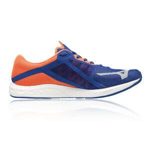 Mizuno-da-uomo-Wave-Sonic-2-Scarpe-Da-Corsa-Ginnastica-Blu-Arancione-Sport