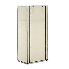 Single Door Clothes Closet Wardrobe Foldable Cabinet Storage Rack 2 Tier 59""