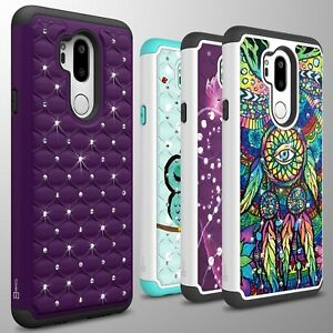 For-LG-G7-ThinQ-Case-Diamond-Bling-Hybrid-Tough-Shockproof-Slim-Phone-Cover