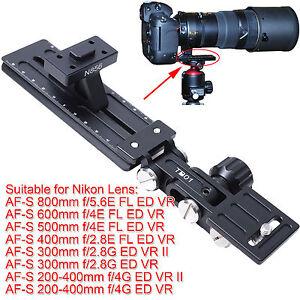 Support pour nikon af s 500mm 600mm f 4e fl ed vr tr pied for Objectif a miroir pour nikon