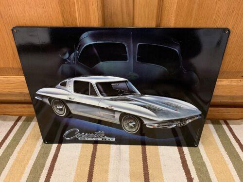 Corvette Sting Ray 1963 Split Window Vintage Style Metal Garage Man Cave