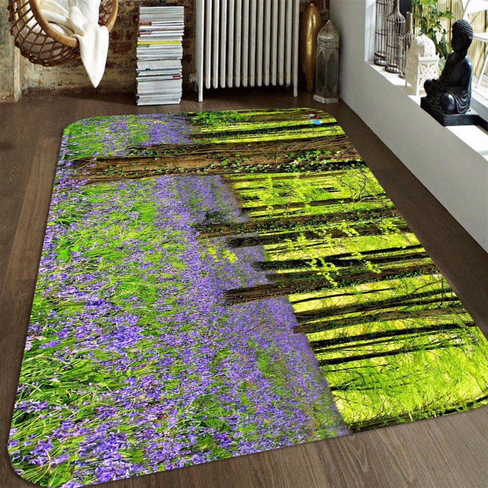 3D lila Flowers Tree 8 Non Non Non Slip Rug Mat Room Mat Round Elegant Photo Carpet CA 637dd6