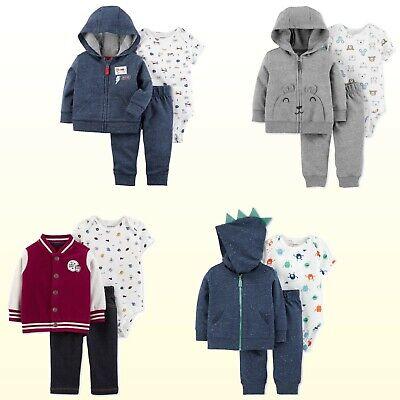 Baby Boys 3-Piece  Little Jacket Set Carters Jacket Pants /& Bodysuit New