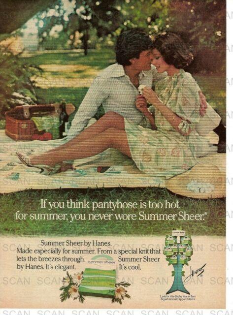 Mccalls 1970 s hanes pantyhose advertisements