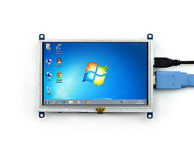 5inch HDMI LCD Resistive Touch Screen 800×480 for Raspberry pi BB Black BananaPi