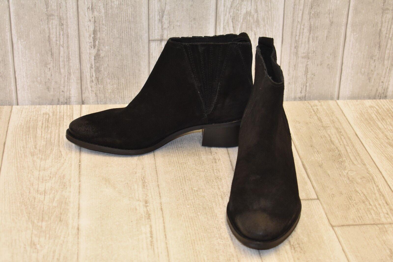 Splendid Cupid Distressed Suede Booties, Women's Size 8.5, Black NEW