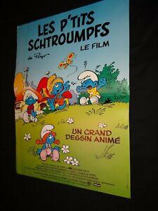LES-P-039-TITS-SCHTROUMPFS-affiche-cinema-bd-animation-peyo