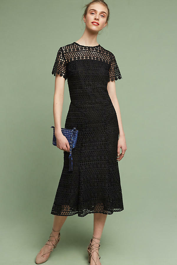NWT Anthropologie Moonljus Lace Midi Dress sz 6  470