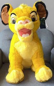 Grande Peluche Plush SIMBA Roi Lion  25 INCH 63cm Disneyland Paris Neuf
