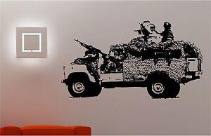 EjeRcito-Jeep-SOLDADO-Adhesivo-Pared-Dormitorio-Infantil-Adhesivo