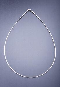 Omega-Maduro-Plata-925-Rodiado-Plata-de-Ley-Aprox-45cm-Collar-D-1-5-Mm