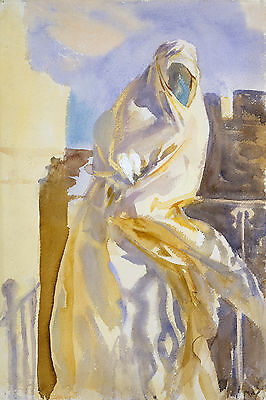 Arab Woman Singer Sargent Watercolor Reproduction Fine Art Print J Tangier