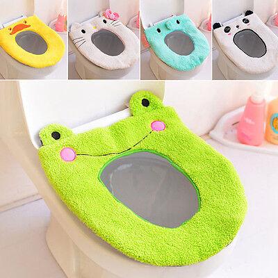 Lovely Toilet Cover Carpet Bathroom Toilet Bath Shower Pad Mat Rug Soft Washable