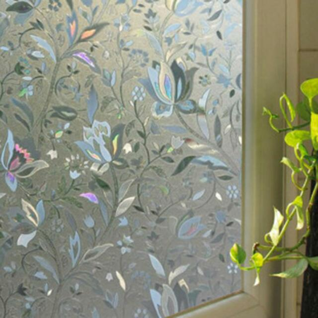 45*100cm Glass Window Film Decorative Home Decor 3D Laser Static Cling Film