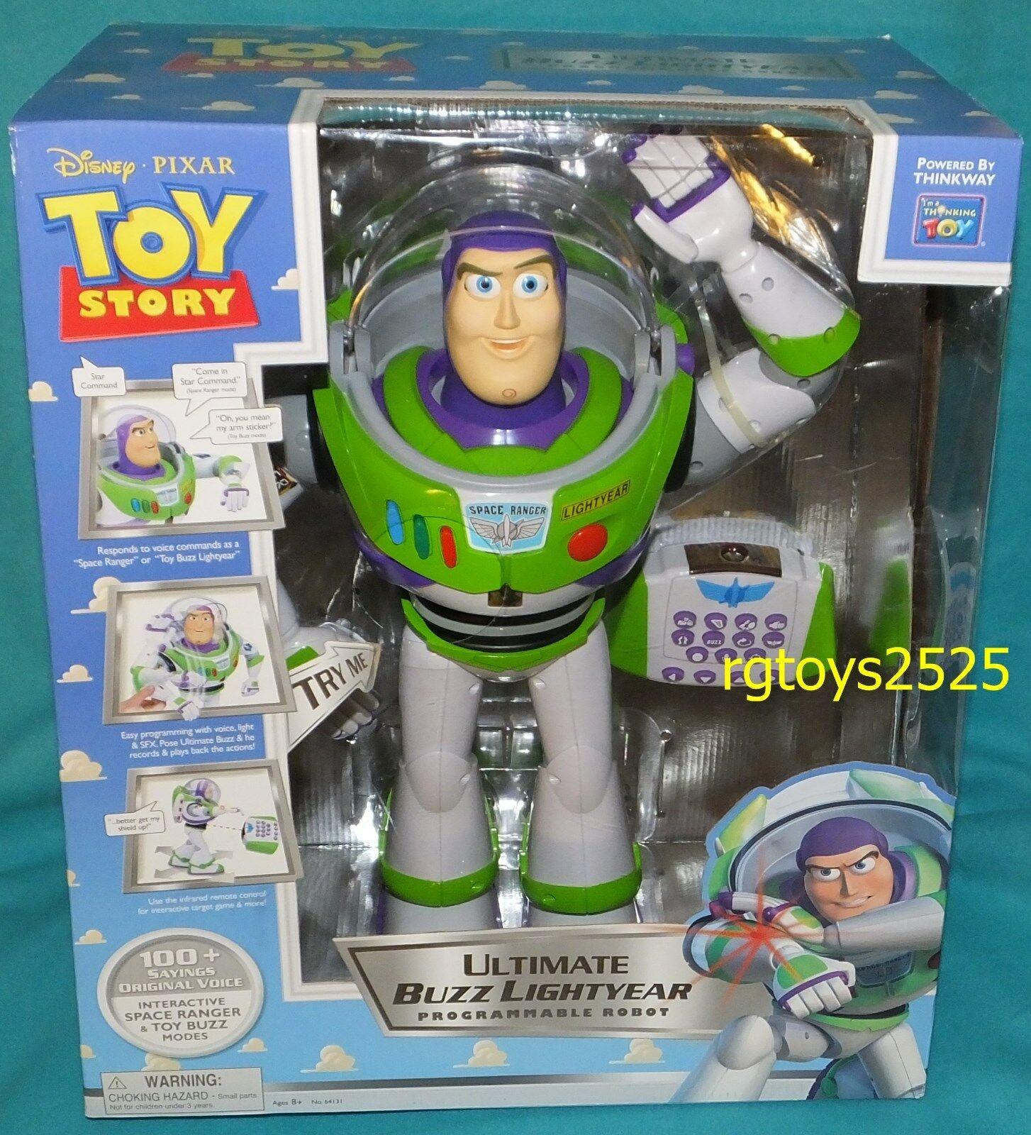 disney toy story 3 ultimate buzz lightyear programmable robot ebay