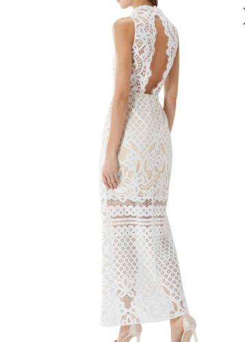 Izzy 16 125 Dress Lace ‑ Rrp White Maxi Coast £149 Size 6qqw57xS